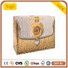 Bolso de compras blanco amarillo del papel de la tarjeta de Rose, bolso del regalo