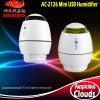Mini humidificador do ar do USB AC-2126 para o carro/Home/escritório