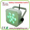 5in1 de Batterij 9X15W Rgbaw aanvulling Draadloze leiden van het PARI