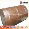 Revêtement de bois naturel Matériau de décoration en aluminium de polyester
