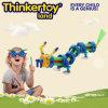 Modèle animal de puzzle de dragon de jouet assemblé par enfants