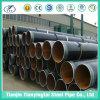 Riga saldata tubo d'acciaio di spirale del carbonio del rivestimento per l'olio dell'acqua
