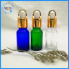 Oferta personalizada de fábrica de Embalagens cosméticas 15ml de vidro transparente vaso conta-gotas