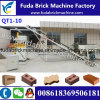 Automatic Qt1-10 Hydraulic Sober Paver Brick Machine / Clay Brick Machine