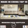 純粋な革L形の家具のソファー