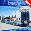 3 Aanhangwagen van Lowbed van het Dek van assen 50ton de Houten voor Zuid-Korea