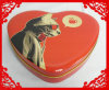 Caixa Shaped do estanho do chocolate do coração