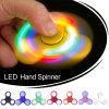 새로운 재미있은 LED 가벼운 손 핑거 방적공 자폐증과 Adhd 기복 초점 불안 긴장 선물 장난감을%s 플라스틱 EDC 손 방적공