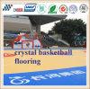 Prateleira de bancada de basquete de borracha interna e externa de madeira e interior