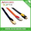 Flat de alta velocidade Metal 2.0 HDMI Cable com Nylon Sleeving