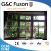 Fenêtre en saillie en aluminium insonorisée avec l'oscillation et le tissu pour rideaux