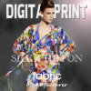100% Slik 6mm Chiffon Flower Printed Fabric para Lady Dress
