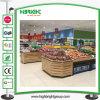 Prateleira de indicador de madeira do vegetal e da fruta do supermercado