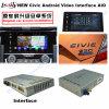 Interfaz video del coche 1.6GHz Caja androide de la navegación del GPS para 2016 Honda Civic con Mirrorlink / WiFi / Bt