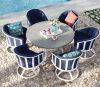 Wf070027 manan silla de eslabón giratorio al aire libre 7PCS de Furnir con el conjunto de la mesa redonda