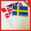Bandera de mano con bandera de plástico