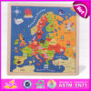 2015 Toy educacional Map Puzzles para Kids, Wooden Map Learning Puzzle para Children, Highquality Wooden Map Jigsaw Puzzles W14c139