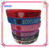 Silicone Wrist Band, Silicone Bracelet with Silkscreen