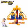 La pista de Thinkertoy bloquea la silla de eslabón giratorio educativa del parque de atracciones de la serie del parque del juguete (P6203)
