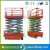 10m 12m de elevación de tijera eléctrica móvil hidráulico con la norma ISO