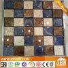 رقعة الشطرنج الذهبي اللون لامع جدار زجاج الفسيفساء (G848015)