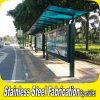 Custom Made abri de la station de bus en acier inoxydable