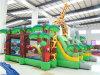 Castelo inflável colorido feito sob encomenda do obstáculo do jardim zoológico dos desenhos animados para o divertimento
