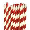 Paja disponible al por mayor rayada roja del papel de la bebida de la hoja