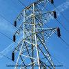 Torre de acero galvanizada de la transmisión de energía eléctrica de Q235 poste