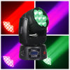 Mini 7*12W Zoom LED moviendo la cabeza de la luz de LED