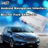 Toque Android GPS Multimedia Interface de video para el 2016 Ford salida AV, WiFi / BT / TV / MirrorLink