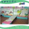 Soberbo e pintura colorida Cama Escolar de madeira sólida na parede com armário (HG-6401)