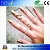 Het echte Zilveren Ingelegde Goud van de Ringen van de Driehoek van de Diamant van de Pijlen van de Diamant Gezamenlijke