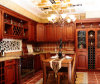 木の家具のラッカードアの高い光沢のあるClassicialの食器棚