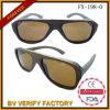 Óculos de sol de madeira de bambu natural UV400 feitos à mão
