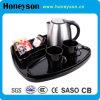 Bouilloire électrique pour chambre d'hôtel avec set de bac à thé