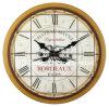 Старинная горчицы Vintage круглые деревянные стены оформлены часы