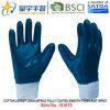 Хлопок Джерси Shell нитриловые перчатки безопасности с покрытием (N для HR1615)