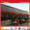 Kraftstoff-Tanker-Förderwagen-halb Schlussteil-Edelstahl-Tank