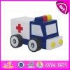 2015 New Arrival Ambulance Toy Car para crianças, Mini carro de brinquedo de ambulância para crianças, Beautiful Baby Wooden Ambulance Toy Car W04A098