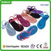 Sandalias al por mayor baratas impresas coloridas de la jalea (RW21896A)