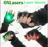 Guantes de láser verde de Oxlasers con 4 PCS Green Laser Láser de baile de espectáculo de escena DJ Club Party con luz de palma Envío Gratis