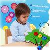 Aprendizaje de los juguetes educativos de los cabritos de madera del regalo de los niños del desgaste del cordón