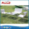 2 Seater Textilstuhl-ausgeglichenes Glas-Oberseite-Tisch-Set