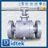 Didtek corps de trois parties a bridé robinet à tournant sphérique de tourillon