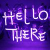 Het Teken van neonlichten Hello daar voor de Staaf van de Slaapkamer