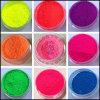 Ombre de polvo de neón fluorescente de pigmentos de gradiente decoraciones nail art