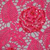 ローズの贅沢なスパンコールの水溶性の刺繍ファブリック