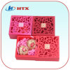Caja de regalo roja del embalaje del papel de la cartulina para la boda
