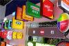 실내 옥외 거리 은행 LED 옆 장방형 Quadrate 정연한 가벼운 상자 플라스틱 진공 전시 게시판
